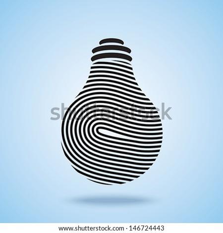 Creative Light bulb vector icon - stock vector