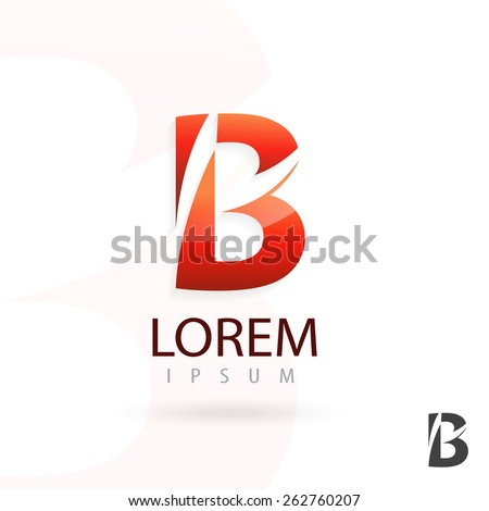 Creative logo design, letter B. Colorful vector icon. Trendy business elements. - stock vector
