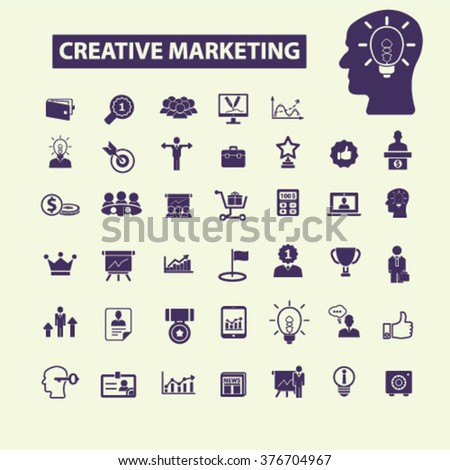 creative marketing icons  - stock vector