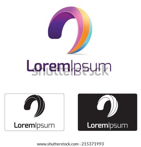 Creative media logo concept,symbol illustration icon. - stock vector
