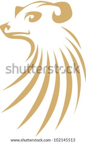 Creative Meerkat Illustration - stock vector