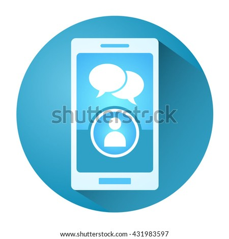 creative mobile chat illustration - stock vector