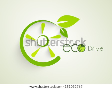 Creative nature concept with green leaves.  - stock vector