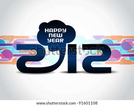 creative new year 2012 background. - stock vector