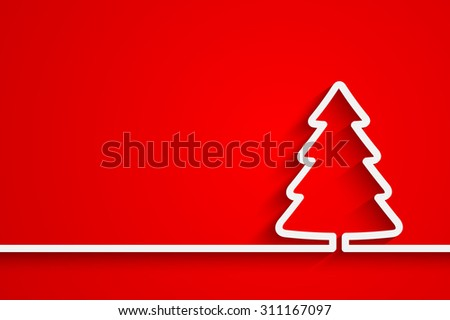 Creative paper Christmas tree. Vector Illustration for your design - stock vector