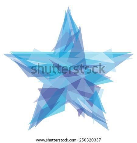 Creative polygon star | 23 February Russian symbol for business design - stock vector