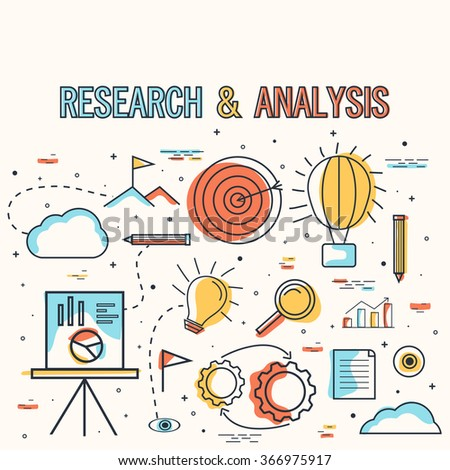Creative Research and Analysis Infographic elements on grey background for Business. - stock vector