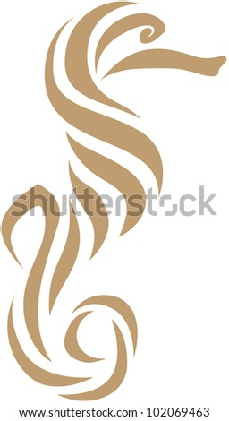 Creative Seahorse Illustration - stock vector