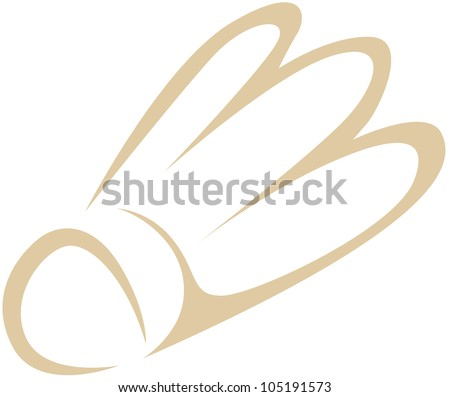 Creative Shuttlecock Illustration for badminton sport - stock vector
