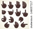 creative sign or signal show by hand finger stock vector - stock vector