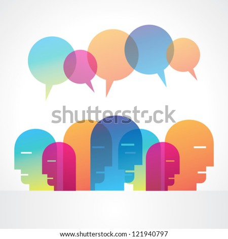 creative social media vector - stock vector
