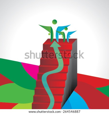 creative stairs concept for success idea  - stock vector