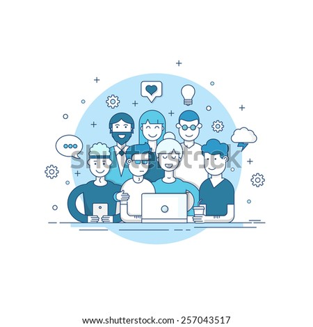 Creative team. - stock vector