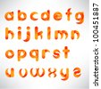creative three dimensional alphabet set - stock vector