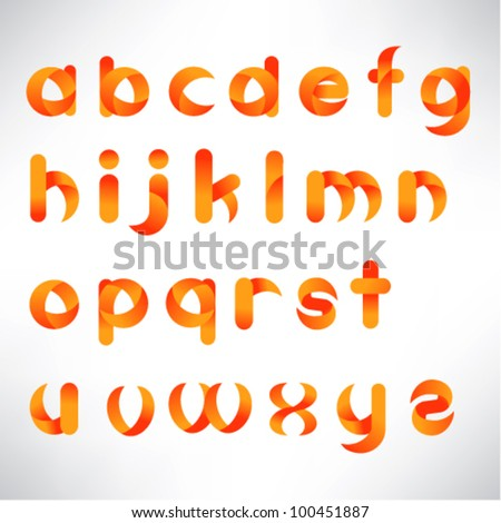 creative three dimensional alphabet set - stock vector