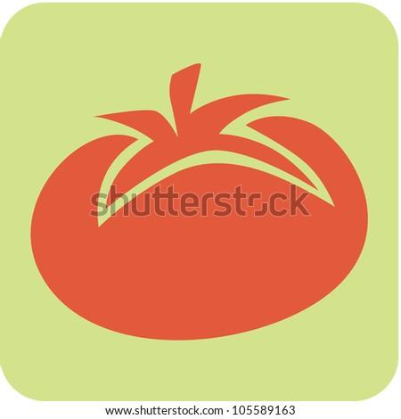 Creative Tomato Icon - stock vector