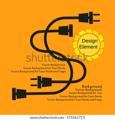 Creative Typography Poster Concept of Unplugged electric wire plugs and sockets. Flat design. Idea for  flyer, banner, poster, sticker, web icon. Vector Illustration. - stock vector