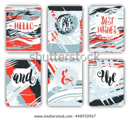 Creative universal cards set - stock vector