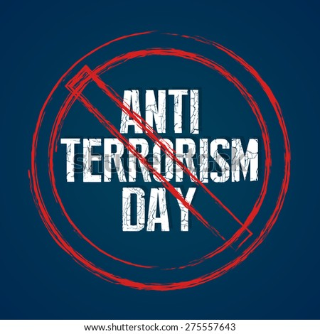 Creative vector abstract for Anti Terrorism Day with red block circle in a creative Dark blue colour background. - stock vector