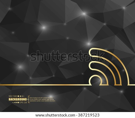 Creative vector wireless. Art illustration template background. For presentation, layout, brochure, logo, page, print, banner, poster, cover, booklet, business infographic, wallpaper, sign, flyer. - stock vector