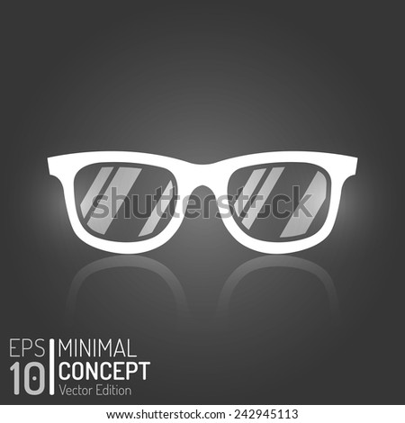 Creative Vintage Glasses Design. Vector Elements. Isolated Minimal Sunglasses Illustration. EPS10 - stock vector