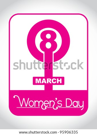 Creative women's day design element. vector illustration - stock vector
