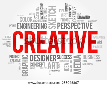 CREATIVE word cloud, business concept - stock vector