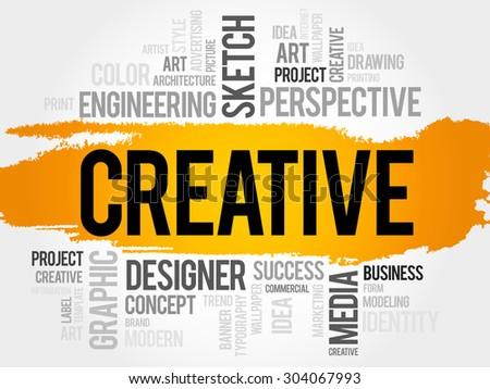 CREATIVE word cloud, business concept - stock vector