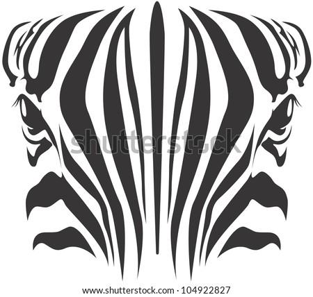 Creative Zebra Illustration - stock vector