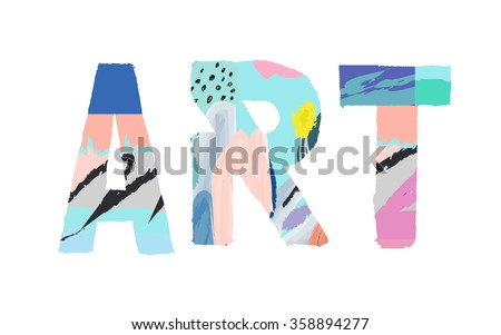 Creativity and Inspiration. Hand draw art design for web site, advertising, banner, poster and print. Isolated - stock vector