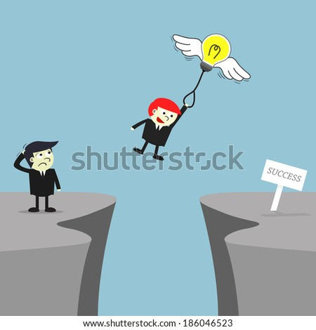 Creativity helps you to success, Business concept. - stock vector