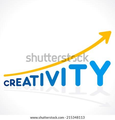 creativity word graph design or increase creativity concept vector - stock vector