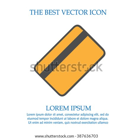 Credit card bank vector icon. Simple isolated sign symbol. - stock vector
