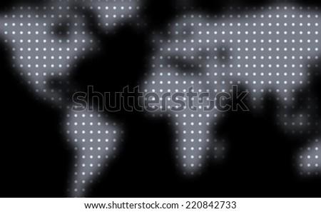 Credit card design. Defocused world map. Vector illustration.  - stock vector