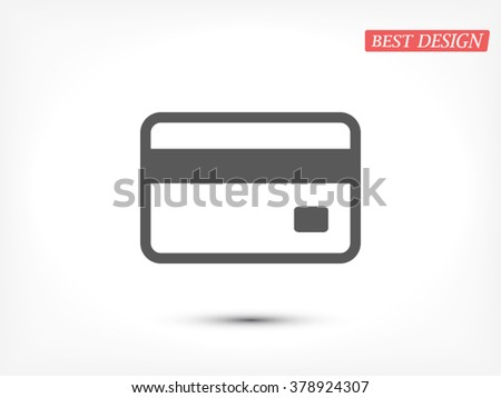 Credit card icon - stock vector
