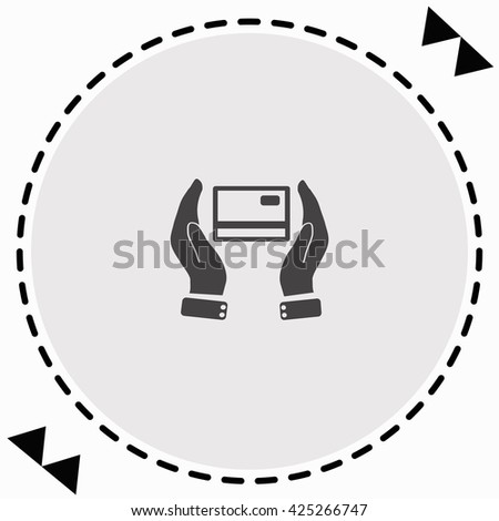 Credit card icon Flat Design. Isolated Illustration. - stock vector