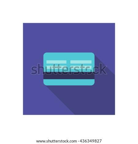 credit card icon. vector illustration - stock vector