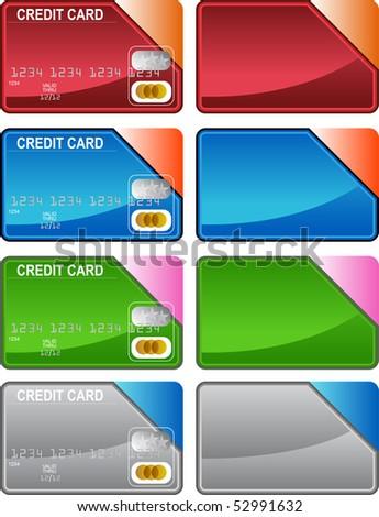 Credit Card Variety - stock vector