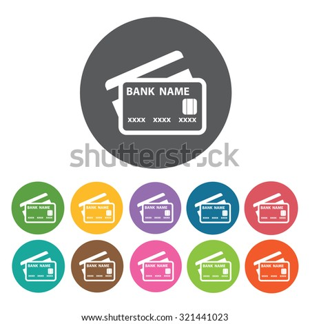 credit cards icon, hotel set. Vector Illustration eps10  - stock vector