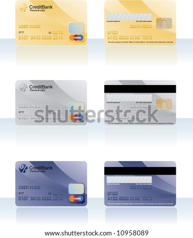 Credit cards. Vector. - stock vector
