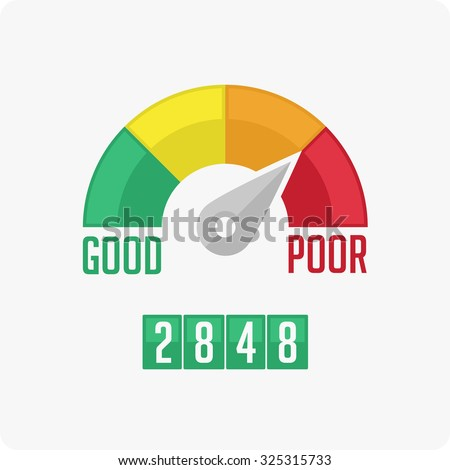 Credit Score Gauge. Vector EPS 10. - stock vector