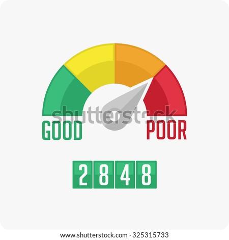 Credit Score Gauge. Vector EPS 10. - stock vector