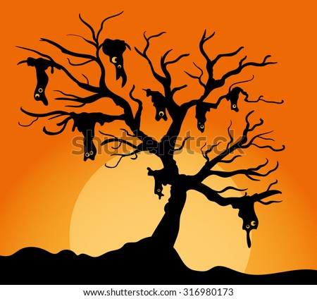 Spooky trees stock photos images pictures shutterstock for Creepy trees for halloween