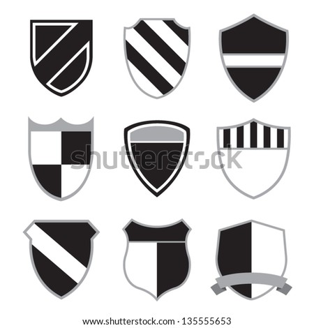Crest Badge Set - stock vector