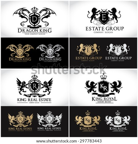 crests logo collection,luxury brand,automotive,fashion,royal,auction,education,beauty,dragon,gear,lion,hotel,real estate,security,wing,eagle,freedom,auto,car,sports,full vector logo collection - stock vector