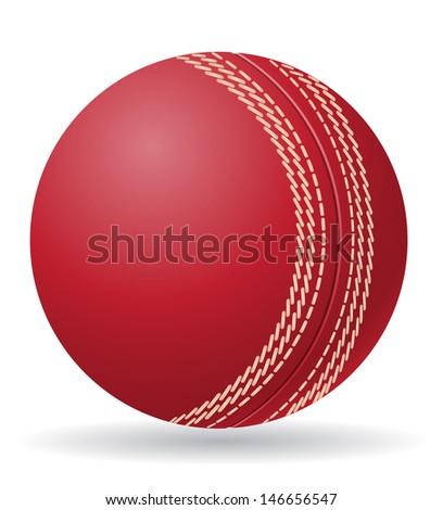 cricet ball vector illustration isolated on white background - stock vector