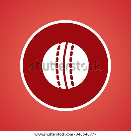 Cricket Ball Icon - stock vector