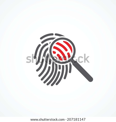 Crime icon - stock vector