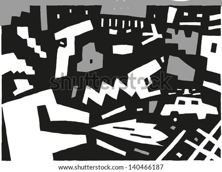 criminal - abstract vector background - stock vector