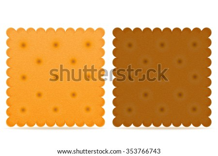 crispy biscuit cookie vector illustration isolated on gray background - stock vector